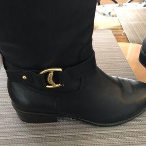 Lauren Ralph Lauren Boot Full Zip Goldtone Buckle